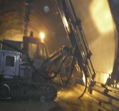 隧道地基壓漿鉆機打孔